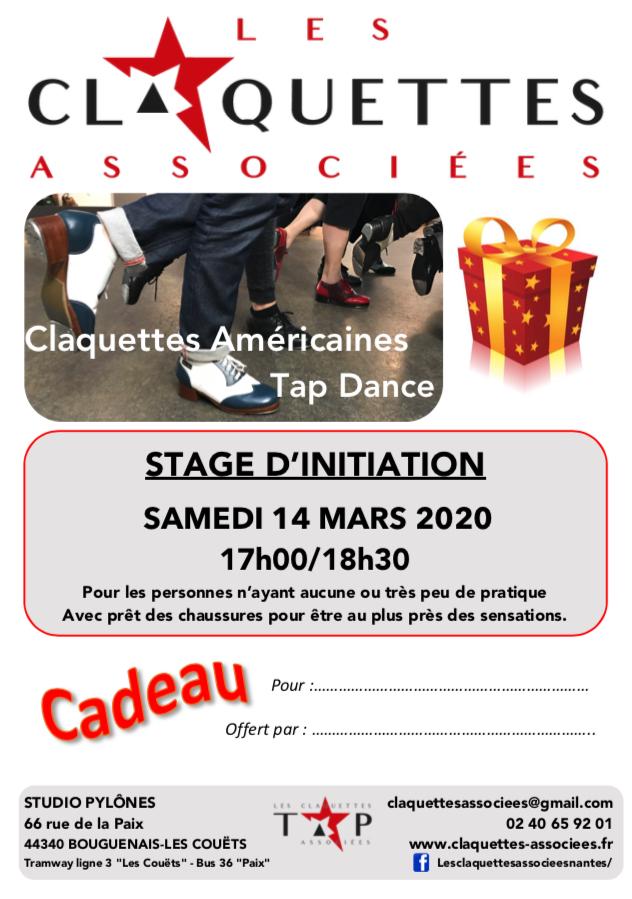 stage initiation claquettes offert-les claquettes associées-Nantes