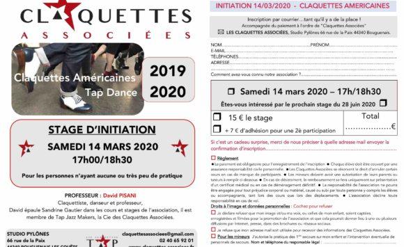 INITIATION – Découverte des claquettes – Samedi 14 mars 2020