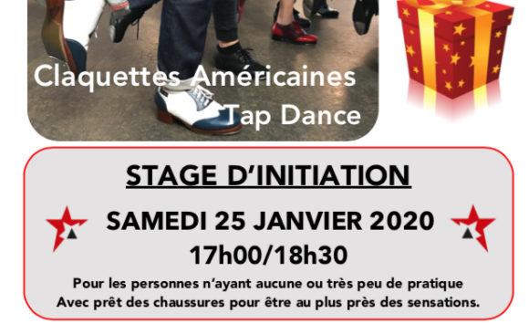 INITIATION – Découverte des claquettes – Samedi 25 janvier 2020 – Idée cadeau de Noël.