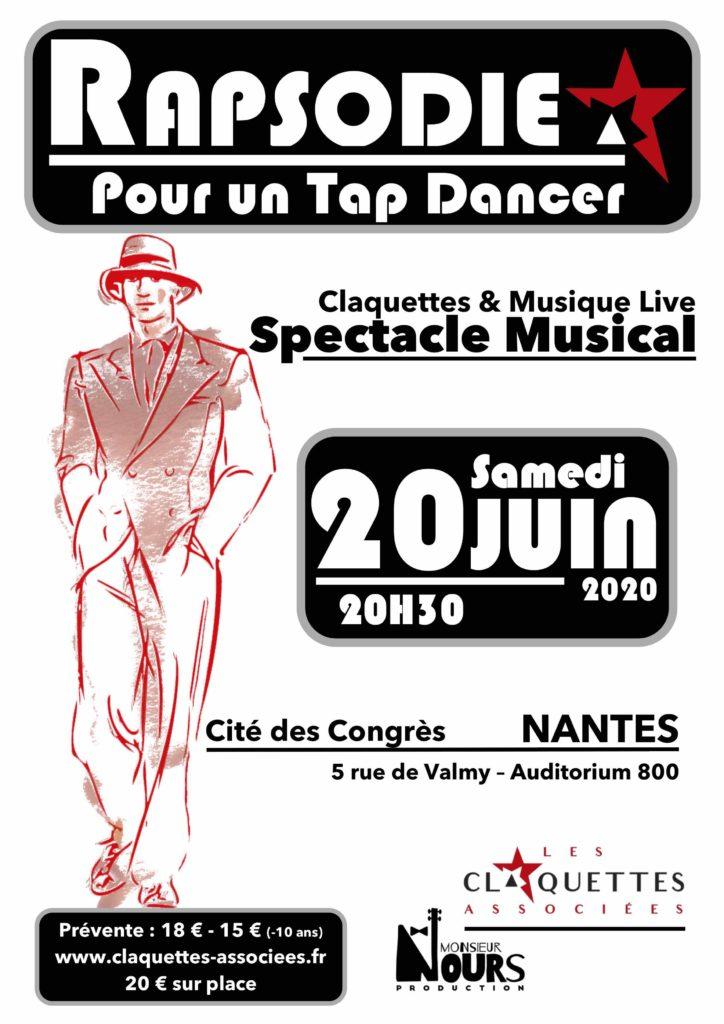 Spectacle musical-Claquettes et musique live-20 juin 2020-Nantes-Les Claquettes Associées