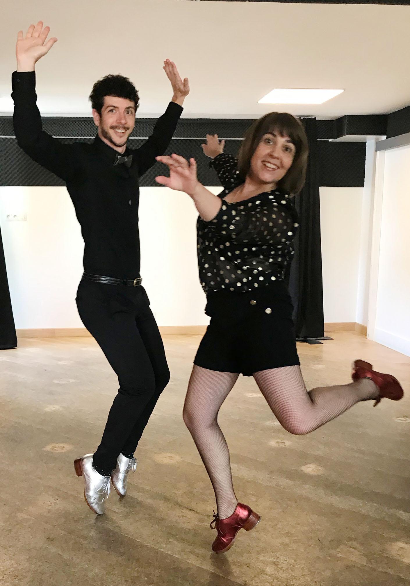Sandrine Gautier et David Pisani, les professeurs de Claquettes américaines - Les Claquettes associées
